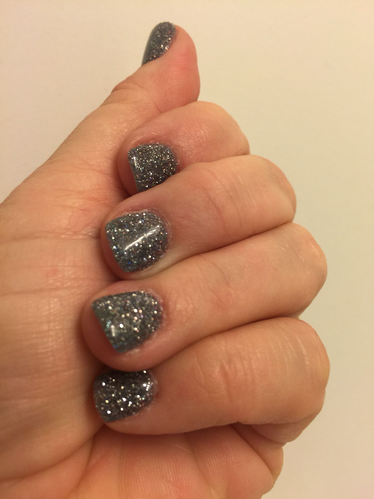 Glitter SNS nails | Nails | Pinterest | Sns nails, Manicure and Makeup