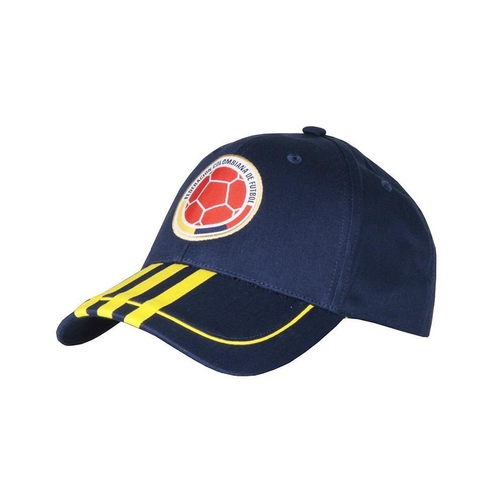 Gorra adidas de la Selección Colombia FCF 3S de color azul ... a60c4ad2603