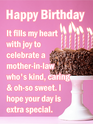 To My Sweet Mother In Law