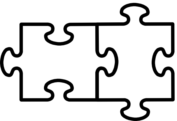 10+ Puzzle Black And White Clipart