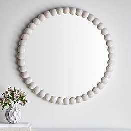 Scallop Silver Leaf Mirror images
