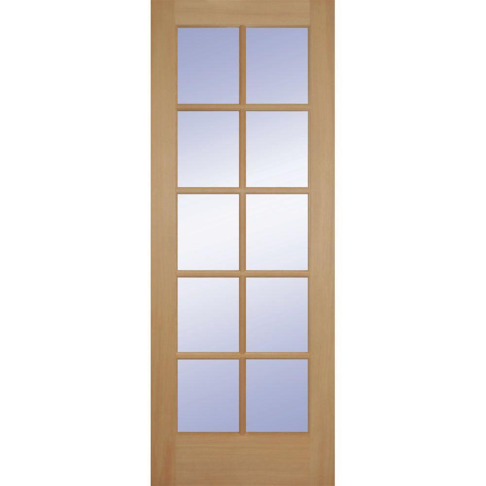 Builders Choice 24 In X 80 In 24 In Clear Pine Wood 10 Lite