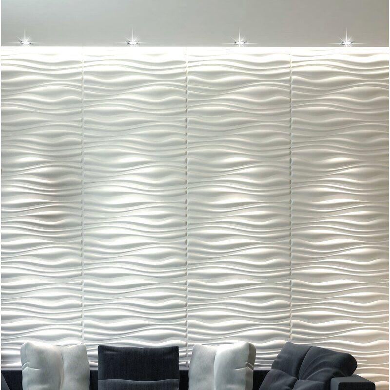 Orren Ellis 20 X 20 Vinyl Wall Paneling In Gloss White Vinyl Wall Panels Wall Paneling Pvc Wall Panels