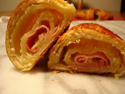 ham and cheese croissants so yummy