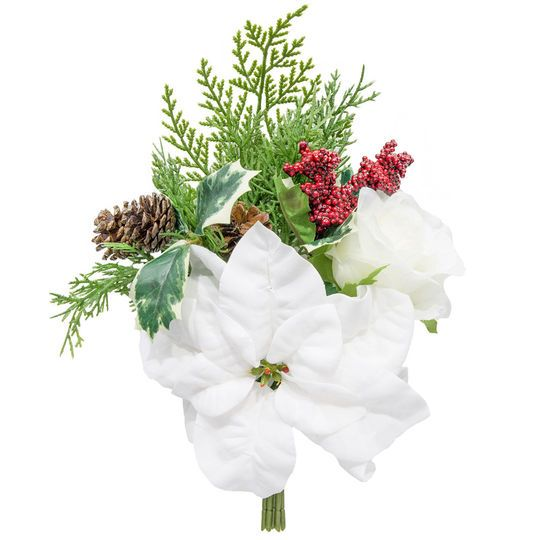 White Poinsettia Stem Bundle By Ashland Artificial Flowers Stem Bundle Flowers