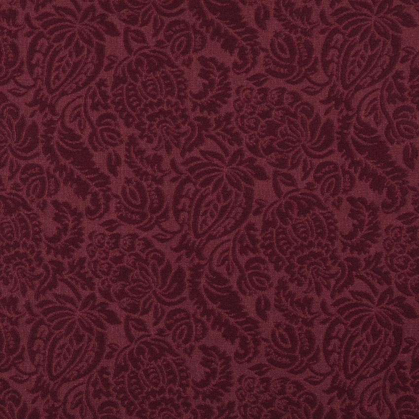 Burgundy Red Rust Brocade Matele Damask Jacquard Upholstery Fabric K6665 Wine Garden