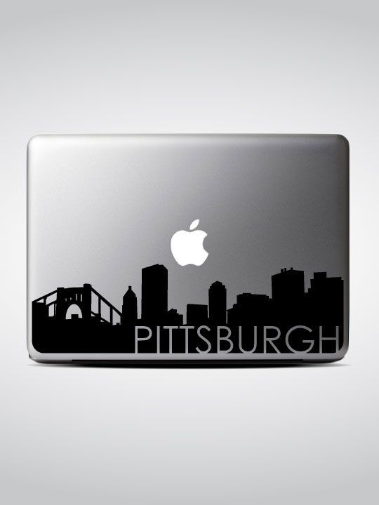 Pittsburgh skyline macbook decal 3 macbook sticker laptop decal