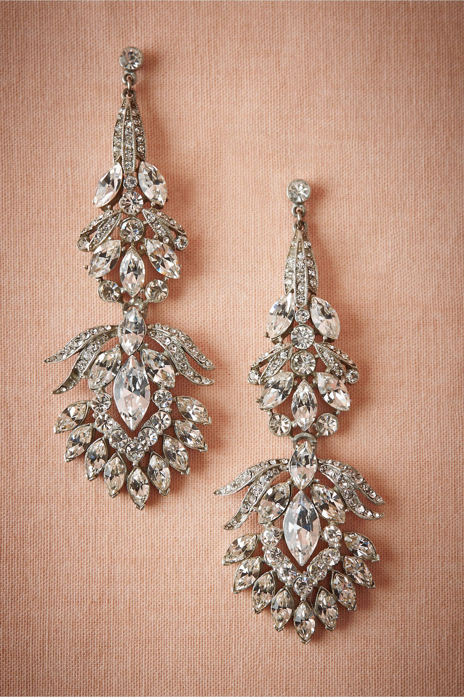 Channel The 1920s With A Pair Of Earrings Dripping In Clear Crystal Fitzgerald Chandelier From Bhldn