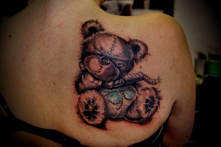 New school teddy bear tattoo google search tattoo for Tattoo school listings