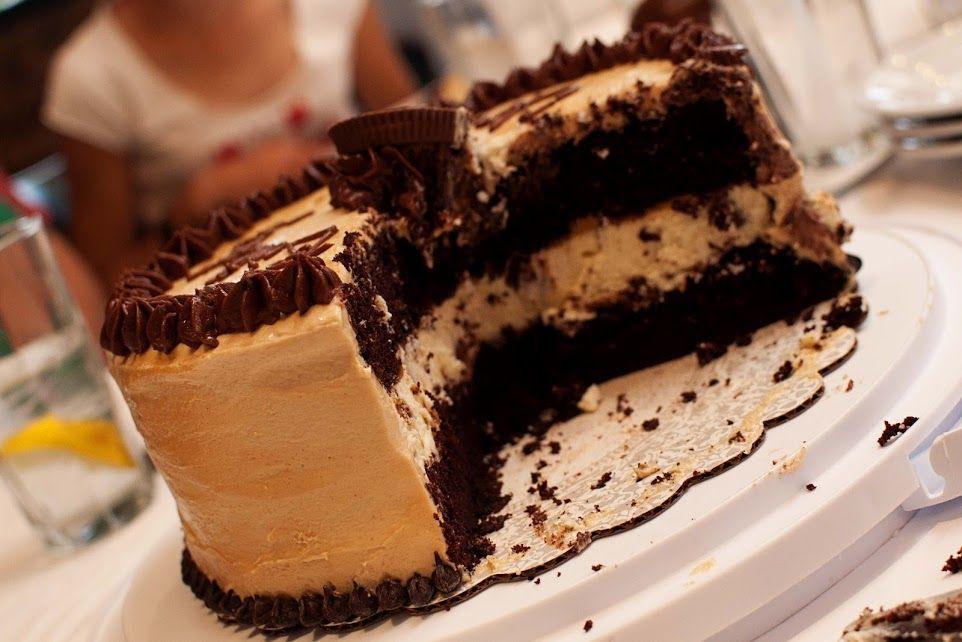 Chocolate peanut butter cup cheesecake cake peanut