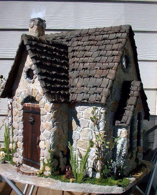 Mossy Stones Dollhouse Tracy Topps Fairy Houses Fairy Garden Houses Bird Houses