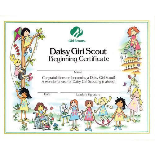 daisy first year certificate | Girl scout printables | Pinterest