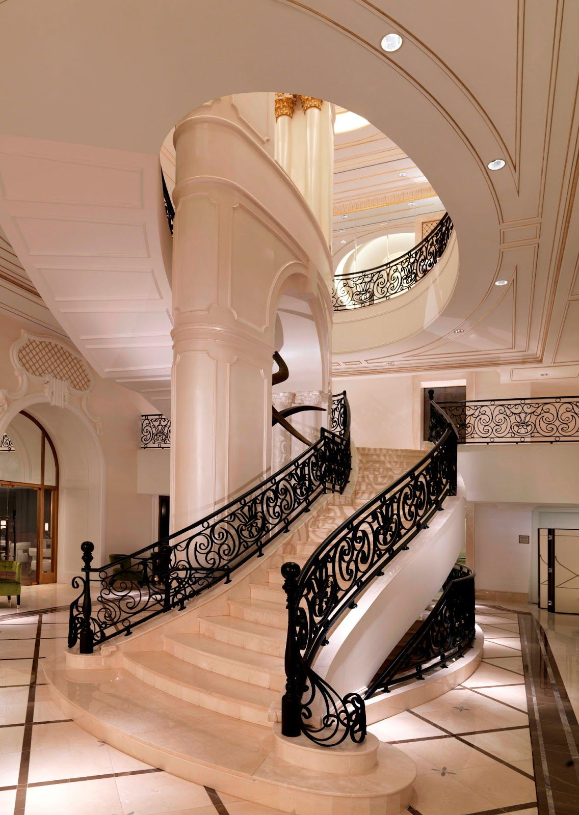 The Style Examiner Four Seasons Hotels Unveil New Property In Baku Mansion Interior Luxury Homes Interior Hotel Interior Design