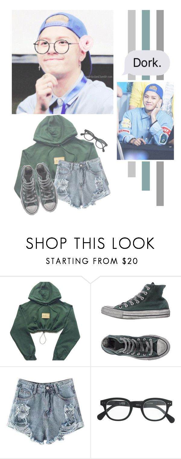 """""""Jackson Wang"""" by lazy-alien ❤ liked on Polyvore featuring Converse, J.Crew, Jackson, GOT7 and jacksonwang"""