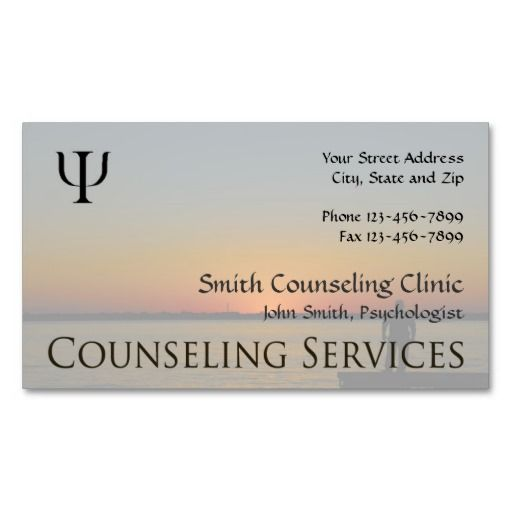 Pin On Mental Health Counselor Business Cards