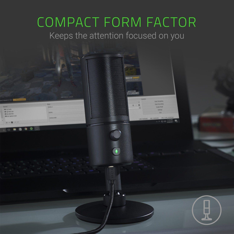 Razer Seiren X Professional Grade High Definition Studio Sound Usb Digital Condenser Microphone Optimized For Streaming Microphone Razer Gaming Microphone