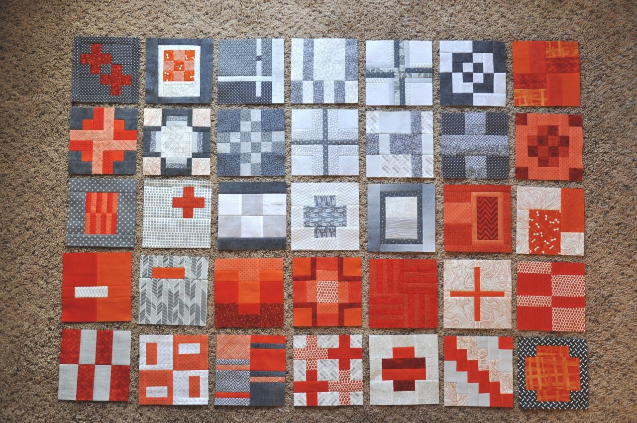 Enlarge this pin for sure! :) Stunning blocks and a stunning color scheme by Alison Gamm, made from Tula Pink's City Sampler quilt pattern. (Check out the full set of Alison's blocks for this quilt on her Pinterest page here: http://www.pinterest.com/pin/425168021046111330/)