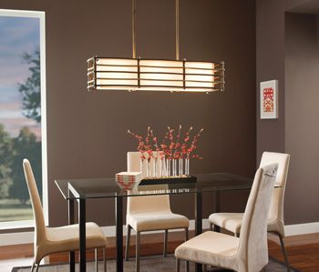 The revamped retro design of the Moxie linear chandelier from ...