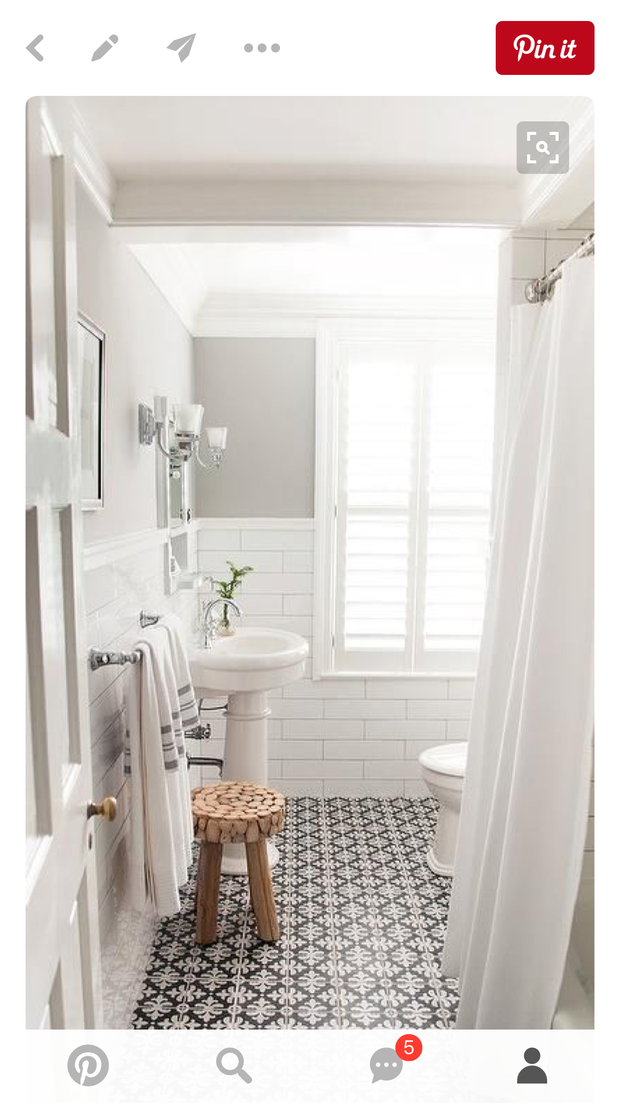 Like Style But More On The Farmhouse Side Upstairs Bathroom In