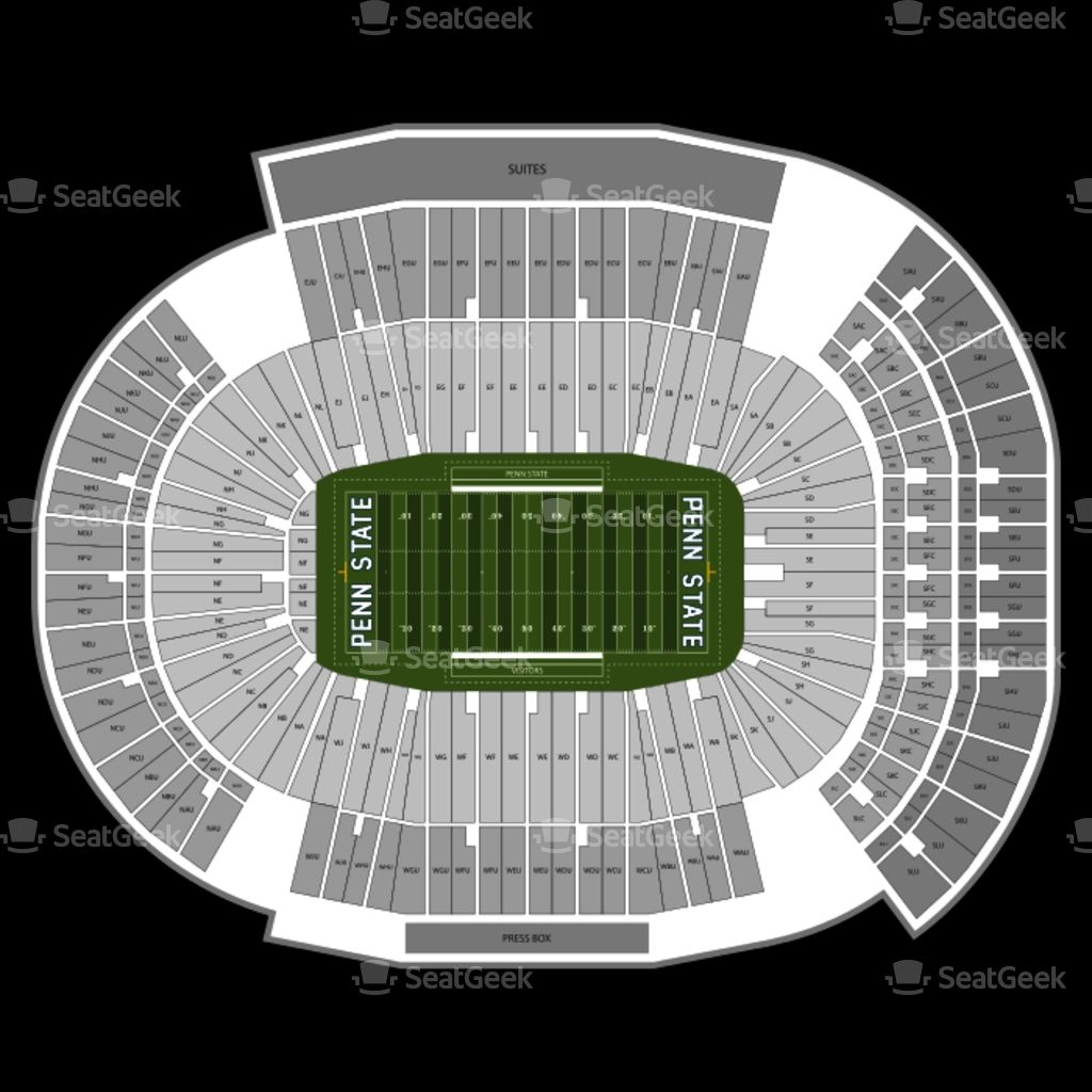 The Most Stylish Penn State Seating Chart In 2020 Beaver Stadium Seating Charts Penn State Stadium