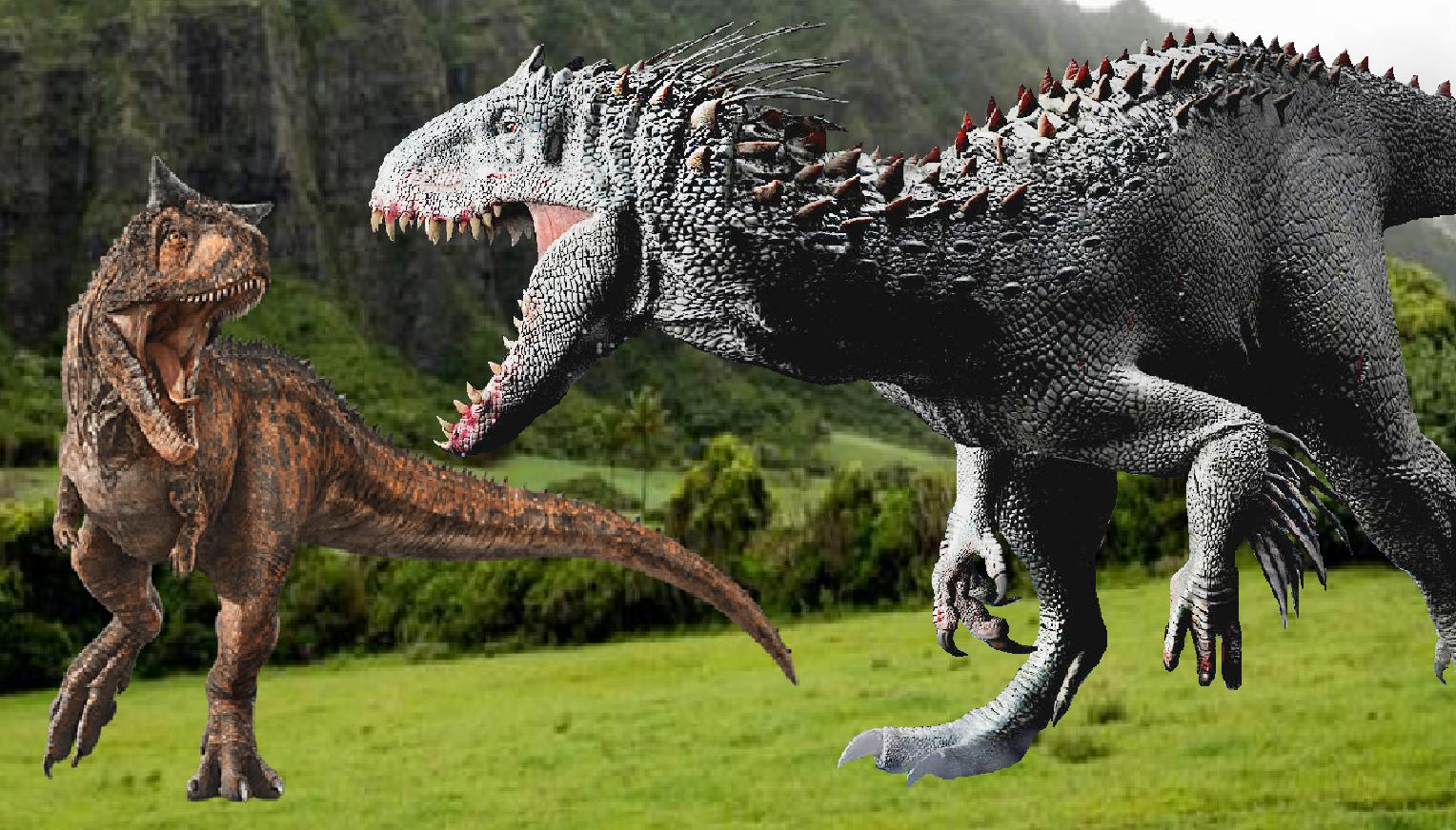 Carnotaurus Vs Indominus Rex Indominus Rex Jurassic Park World Art Reference De este dinosaurio el indominus adquirió una media superior de intelecto y una notable capacidad para interpretar situaciones y solucionar problemas. carnotaurus vs indominus rex