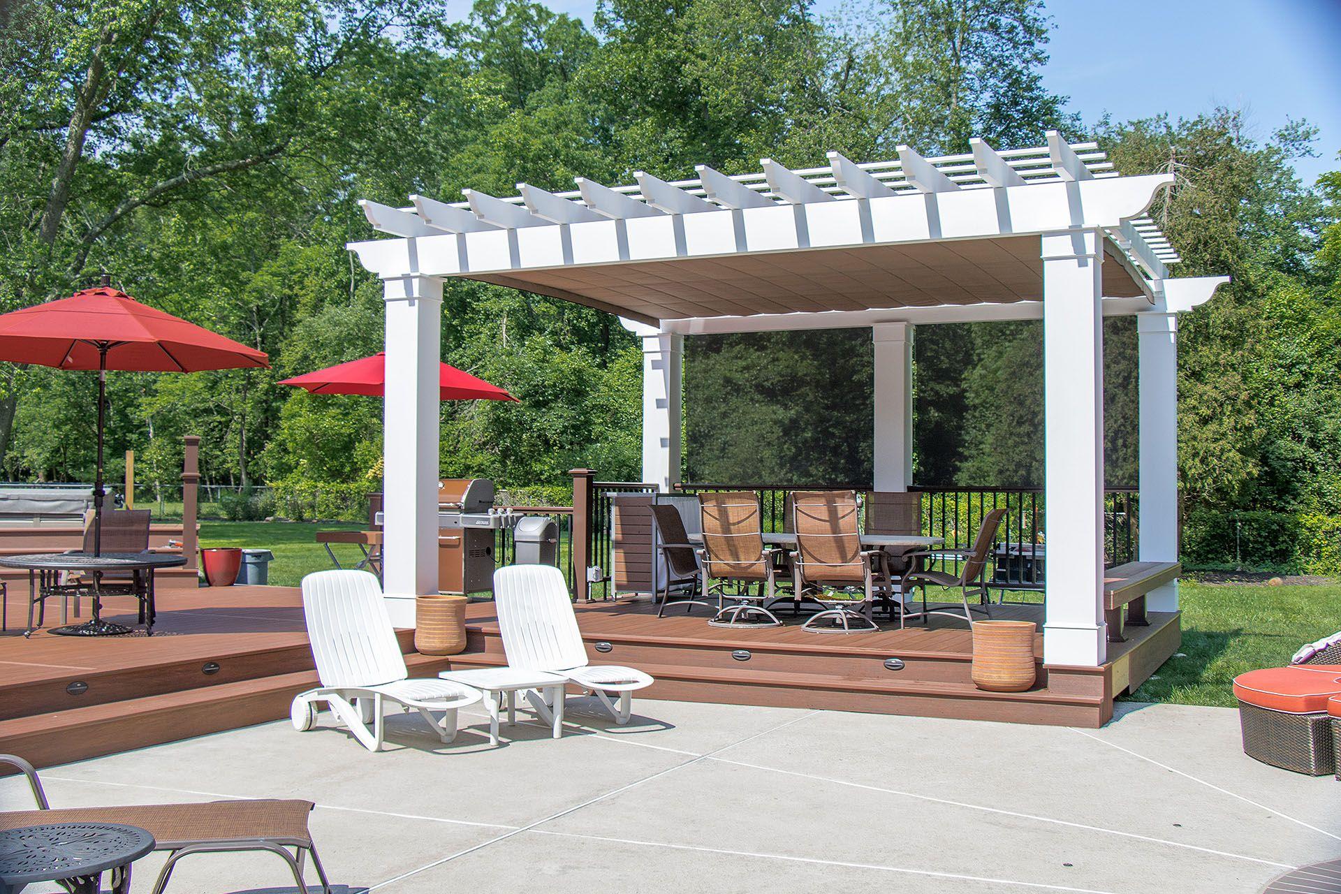 Retractable Shade Pennsylvania Pergola Backyard Pergola Pergola Shade