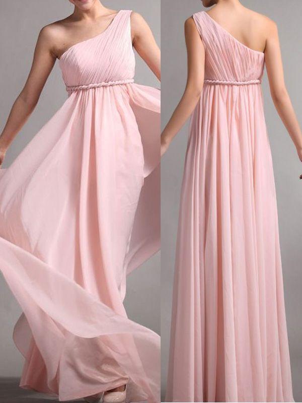 Elegant Bridesmaid Dress Chiffon Bridesmaid Dress Brief One Shoulder ...