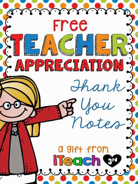 a freebie to celebrate teacher appreciation day