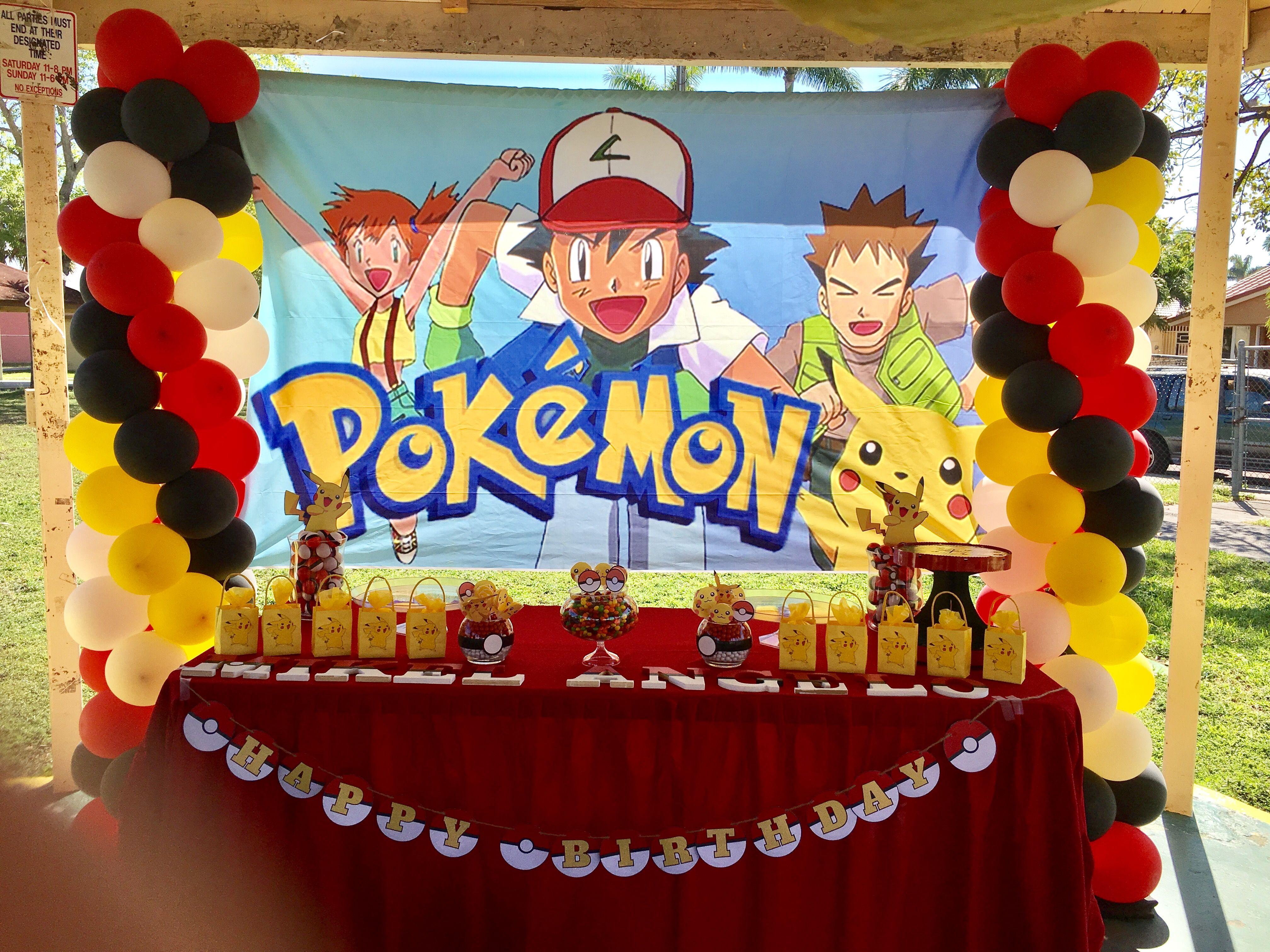Pokémon Birthday party decoration by premierepartydeco