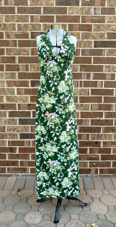 S A L E/ vintage sundress/ 70s floral maxi by pocketvintage1, $38.40