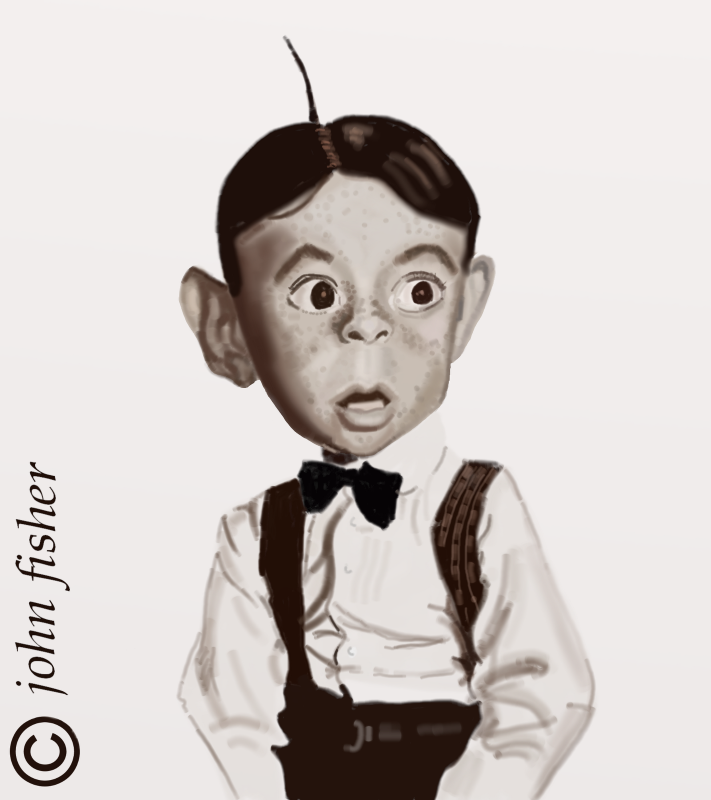Carl Alfalfa Switzer by johnscaricatures