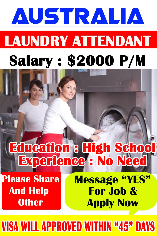 Laundry Attendant At Australia Job Information Work
