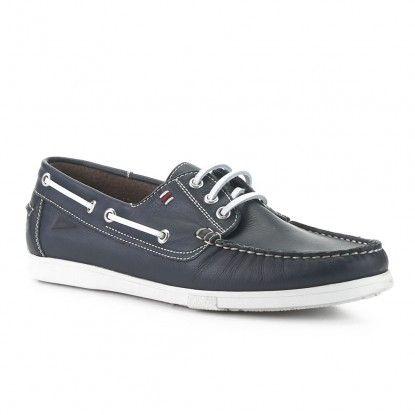 Zapatillas para barcos de alta mar para hombres, azul marino, 7 M US