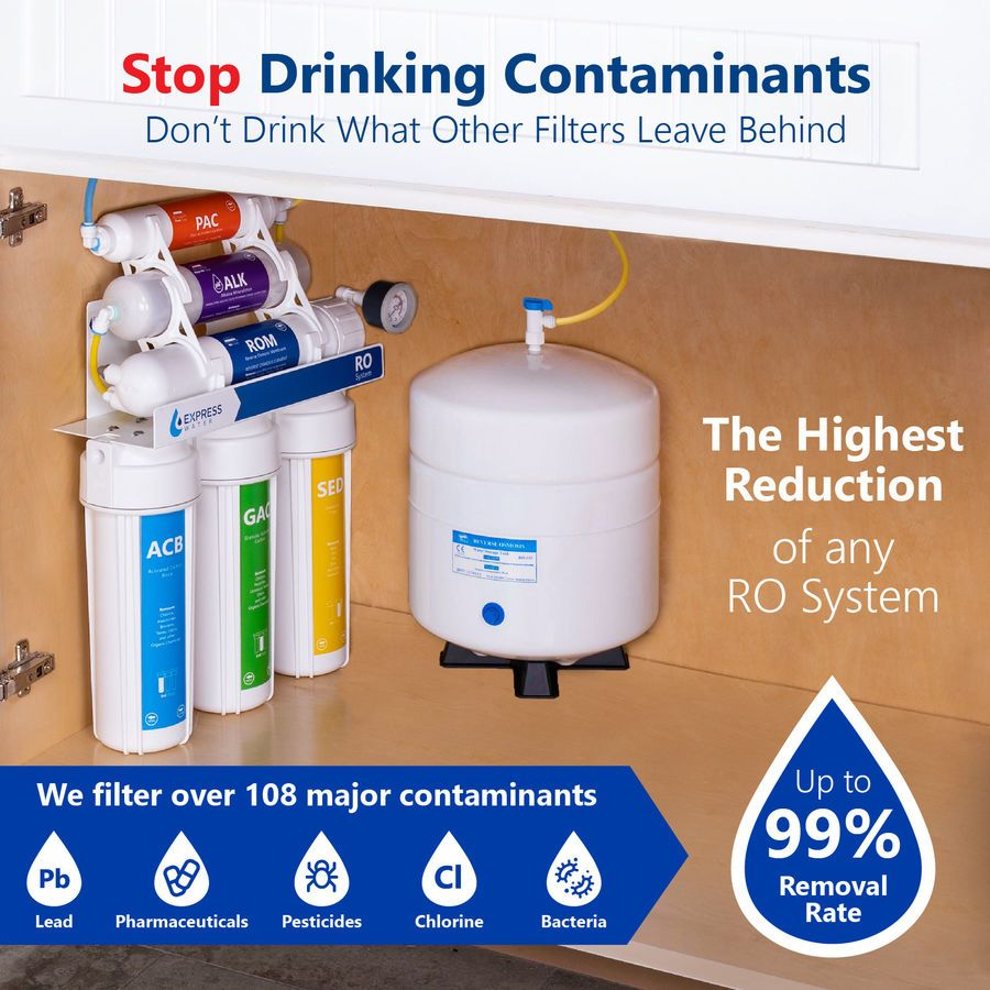 10 Stage Undersink Reverse Osmosis Alkaline Mineral Water Filter System 100 Gpd Under Sink Water Filter Sink Water Filter Under Sink Water Filters