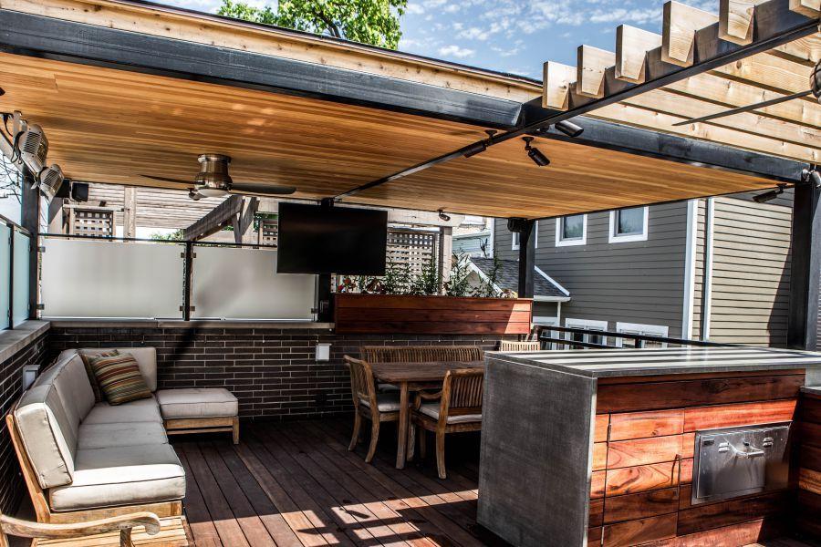 Contemporary Canopy Outdoor Kitchen Decor Patio Outdoor Kitchen