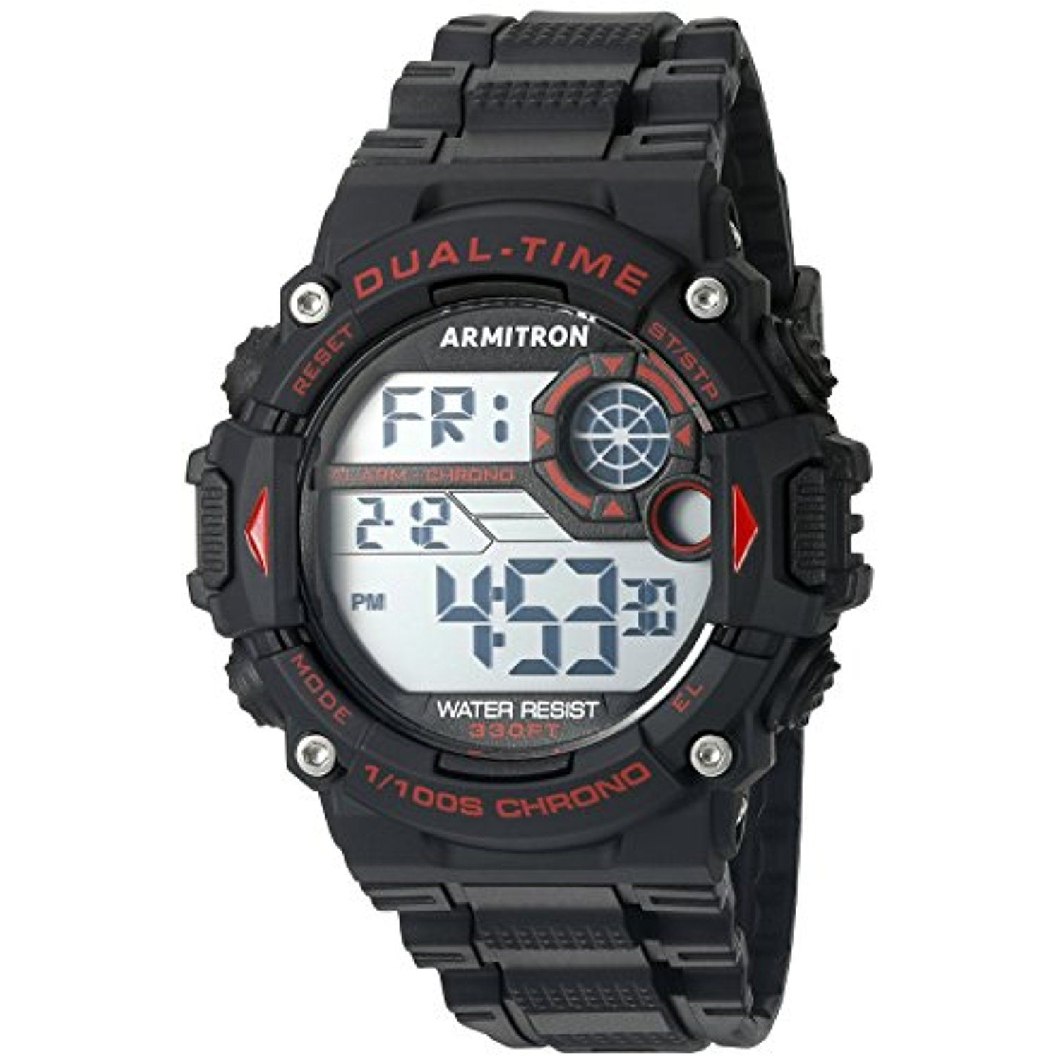 Armitron Sport Men's 40/8356RED Red Accented Digital