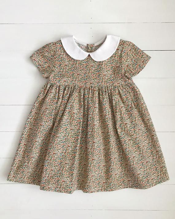 cecee2a545a9 Girls Easter Dress, Spring Dress, Liberty of London Girl Dress, Girls  Cotton Dress, Baby Clothes, To