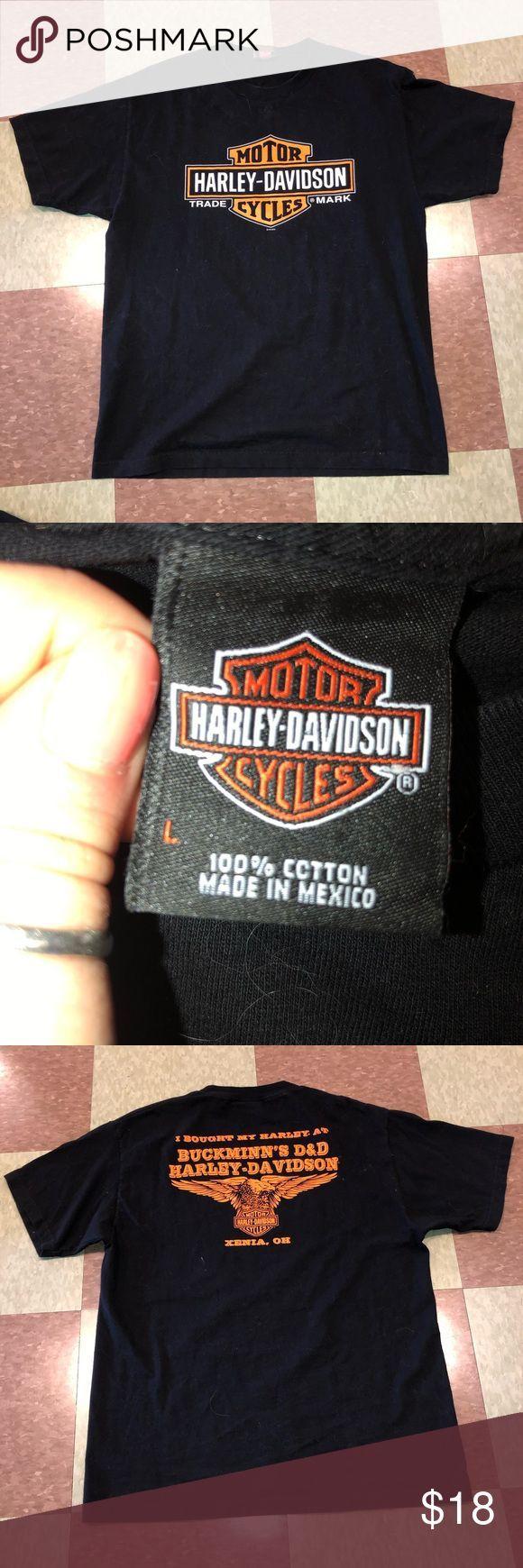 Harley Davidson Emblem Lg black biker motorbike Good situation – has some pet fu…