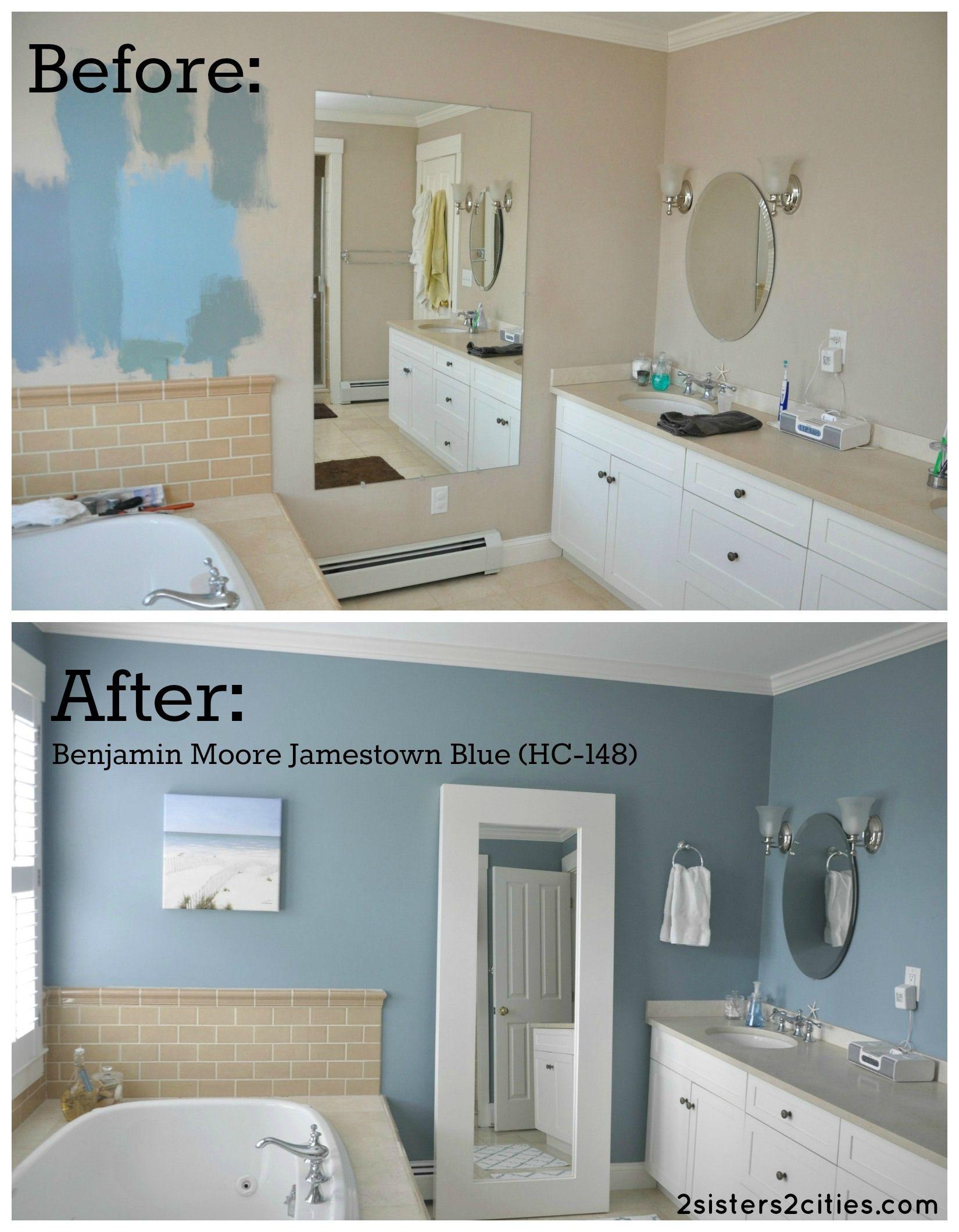 Benjamin moore palladian blue bathroom - Jamestown Blue By Benjamin Moore 2 Sisters 2 Cities Jamestown Blue By Benjamin Moore 2