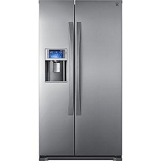 24 0 Cu Ft Counter Depth Side By Side Refrigerator Energy Star Kenmore Elite Stainless Fridge Side By Side Refrigerator Locker Storage