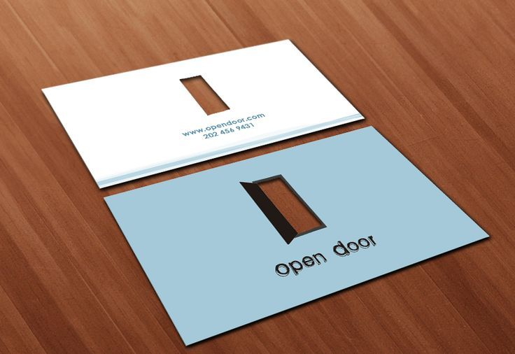 Open Door Placed Business Card Transparent Creative