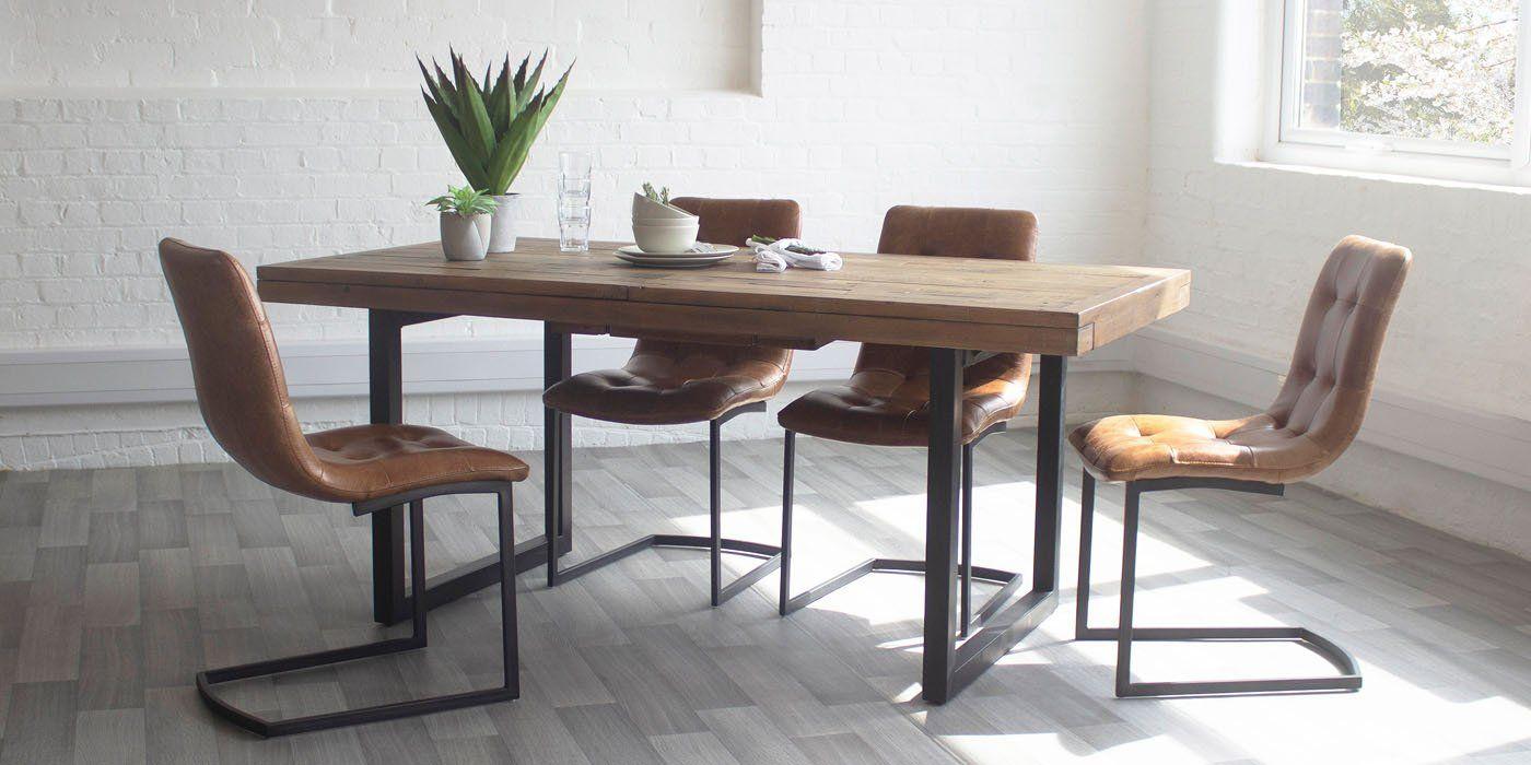 In The Spotlight New Industrial Dining Tables Industrial Dining