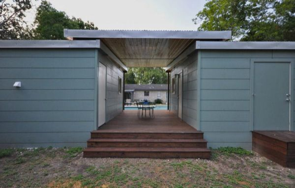 Two Poolside Tiny Houses Humble Living In Luxury