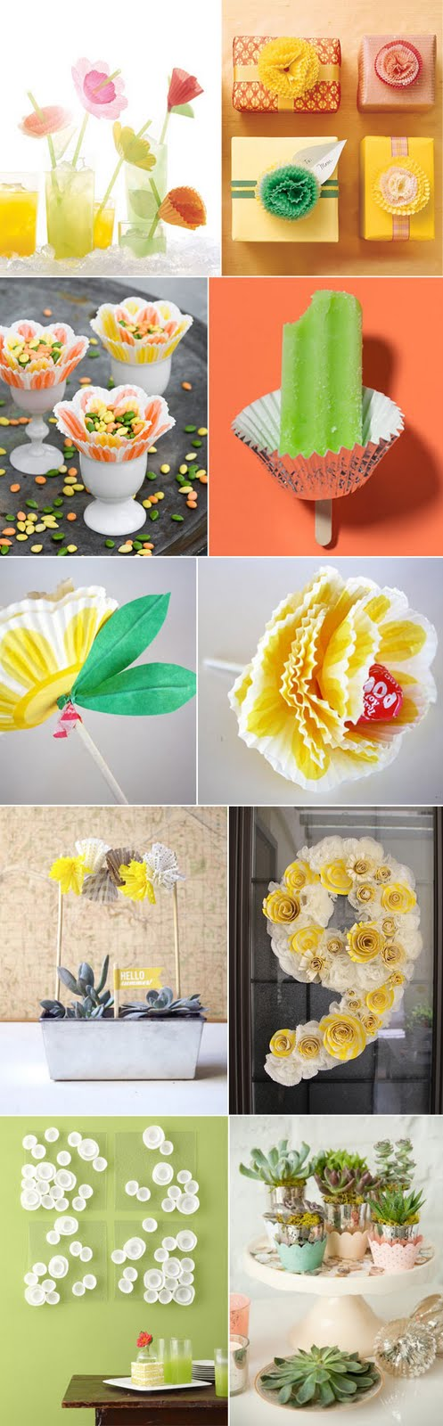 Image detail for -bonafidebride: Cupcake Liner DIY Crafts {they're a piece of cake!}