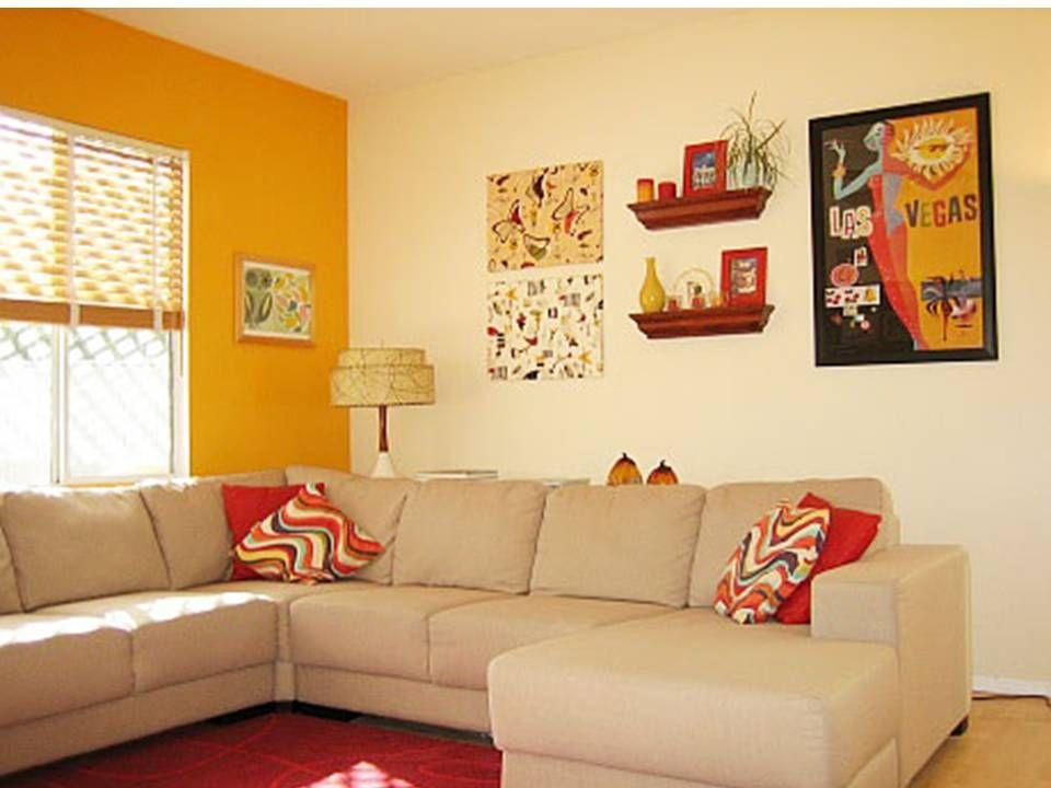 """como pintar una sala pequeña de dos colores. """"salas coloridas y"""