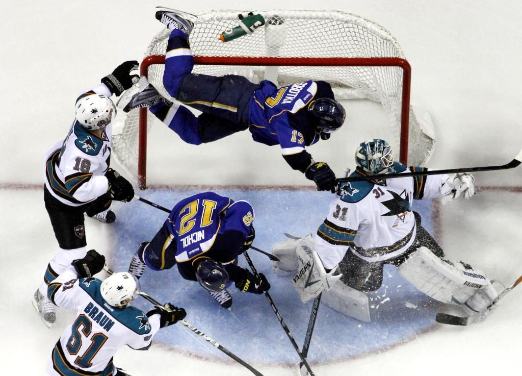 Blues n Sharks game 2... The greatest game on ice! (With
