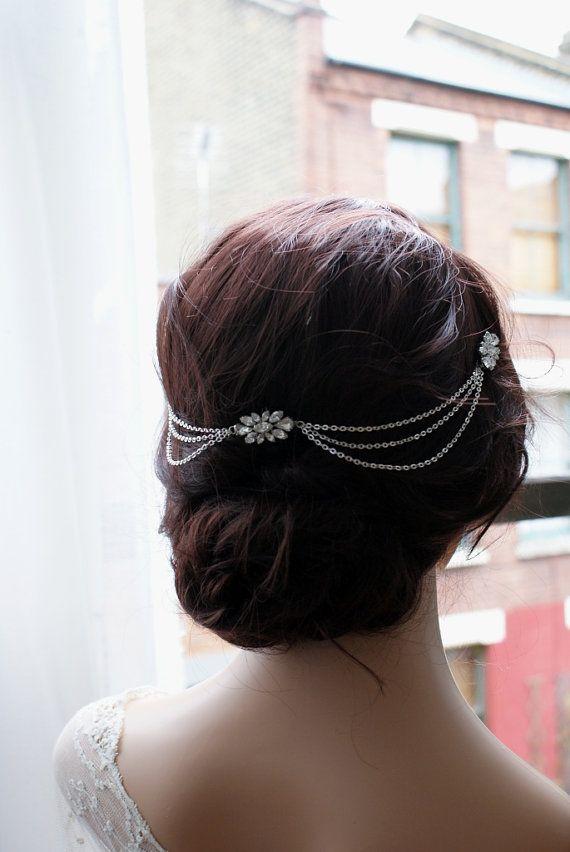 Drapiert böhmischen Hochzeit Headpiece Kristall von AgnesHart #hairchains