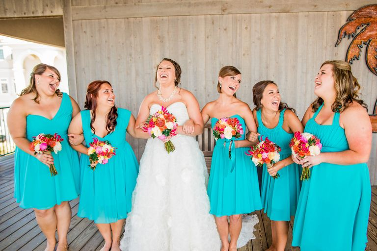 c73a793ecb43 A Very Beachy Blue Coral Wedding In North Carolina | weddings beach ...