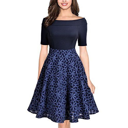 372bf27465 Sidefeel Women Off Shoulder Sleeve High Low Skater Dress Small Wine Red at  Amazon Women s Clothing store