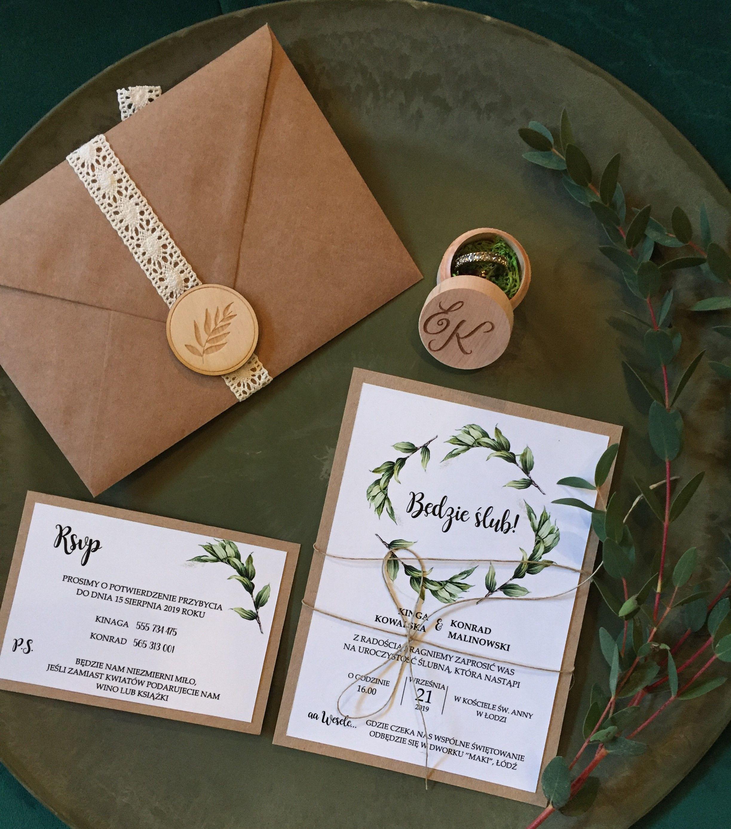 Zaproszenia Slubne Zaproszenia Rustykalne Boho Wedding Invitations Boho Rustic Wykonujemy Pelna Rustic Wedding Wedding Decorations Wedding Inspiration